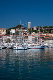 Sailboats in Cannes Royalty Free Stock Image