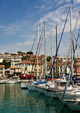 Sailboats in Cassis Stock Images