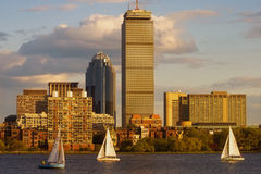 Sailboats on the Charles Stock Image