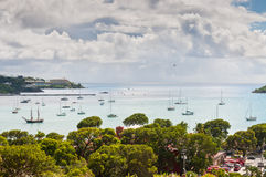 Sailboats at Charlotte Amalie harbor - St. Thomas, US Virgin Isl Royalty Free Stock Photography