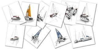 Free Sailboats Design Projects Royalty Free Stock Photos - 148856708
