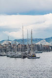 Sailboats Docked in Palma de Mallorca Spain Stock Photos