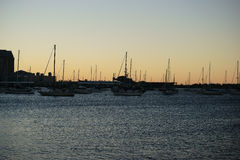 Sailboats early morning Royalty Free Stock Photography