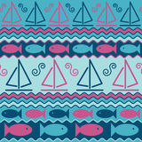 Sailboats and Fish Stock Photography