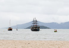 Sailboats in Florianopolis, Brazil Royalty Free Stock Image