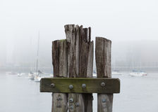 Sailboats on a foggy morning Stock Photography