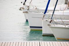 Sailboats at the Garda lake Stock Photography