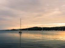 Sailboats On Grand Marais Harbor At Sunset 5 Royalty Free Stock Photo