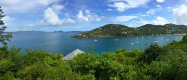 Sailboats in Great Cruz Bay, St. John, USVI, Caribbean Royalty Free Stock Images