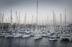 Sailboats in harbor Royalty Free Stock Photography
