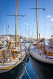 Sailboats in a harbor of Cannes France French Riviera Stock Photos