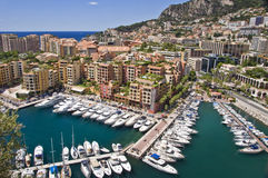 Sailboats in the harbor of Fontvieille, Monaco Stock Photos