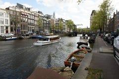 Sailboats in harbor at Hoorn, Netherlands. Stock Image