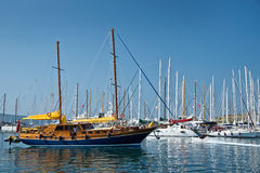 Sailboats in the harbour of Bodrum Royalty Free Stock Image