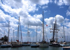Sailboats In Harbour At Cienfuegos Cuba Royalty Free Stock Photography