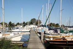 Sailboats at the harbour stock photos