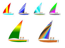 Sailboats Illustration Stock Image