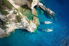 Free Sailboats In A Beautiful Bay, Paxos Island, Greece Royalty Free Stock Photography - 174771767