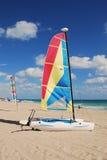 Sailboats In Tropical Resort Stock Image