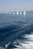 Sailboats in the Ionian sea Stock Image