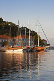 Sailboats in Jelsa Stock Images