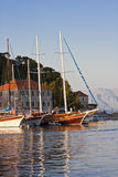 Sailboats in Jelsa Stock Photo