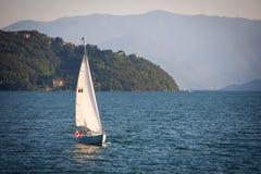 Sailboats at Lake Como, Italy Royalty Free Stock Photos