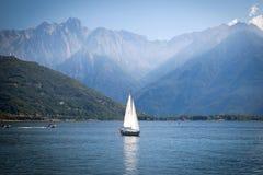 Sailboats at Lake Como, Italy Stock Image