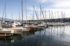 Sailboats on Lake Garda Royalty Free Stock Image