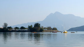 Sailboats on the lake Royalty Free Stock Photos