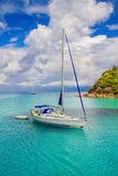 Sailboats at Lakka Bay, Paxos, Greece Royalty Free Stock Photos