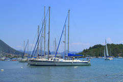 Sailboats,Lefkada Greece Royalty Free Stock Image