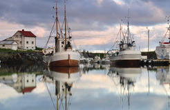 Sailboats in lofoten Stock Images