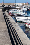 Sailboats at marina dock of Alexandroupolis Stock Image