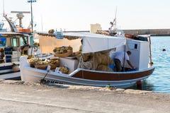 Sailboats at marina dock and bay in Chania/Crete Royalty Free Stock Image