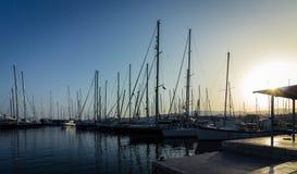 Sailboats in a marina Royalty Free Stock Photo