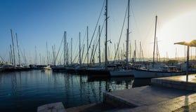 Sailboats in a marina Stock Image