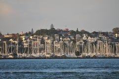 Sailboats in marina Royalty Free Stock Images