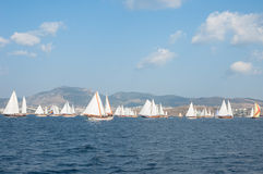 Sailboats in the Mediterranean Sea Stock Photography