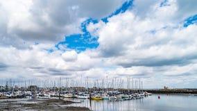 Sailboats in Howth Harbor royalty free stock photos