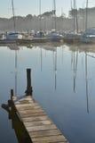 Sailboats Moored on lake Royalty Free Stock Photos