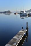 Sailboats Moored on lake Royalty Free Stock Photo