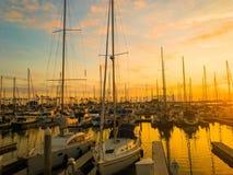 Sunset Marina stock image