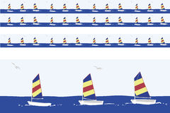 Sailboats  motif Stock Images