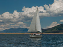 Sailboats on Mountain Lake Royalty Free Stock Photos