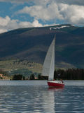 Sailboats on Mountain Lake Royalty Free Stock Photography