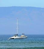 Sailboats near Maui Stock Images