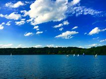 Sailboats. Out on a lake Royalty Free Stock Photo