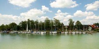 Sailboats panorama Stock Photography