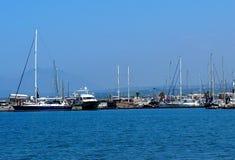 Sailboats And Pleasure Craft In Heraklion Crete Greece Stock Photo